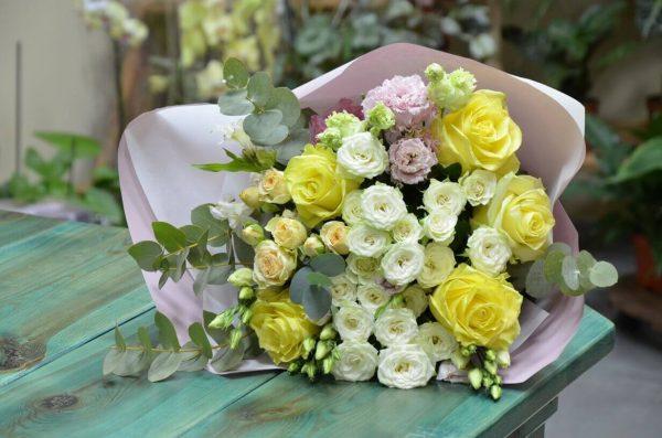 Купить букет из желтых роз в Гомеле