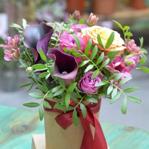 Заказать букет цветов в коробке в Гомеле