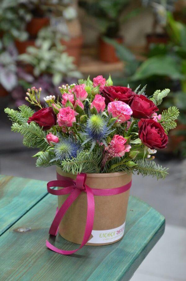 Цветы в коробке с доставкой Гомель