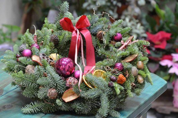 Купить рождественский венок в Гомеле
